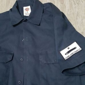 Dickies Button Down w/ Come And Take It Patch